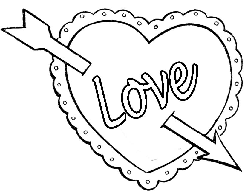 Valentines Day Clipart To Color.