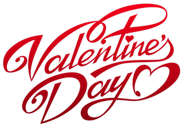 Valentines Day Text transparent PNG.