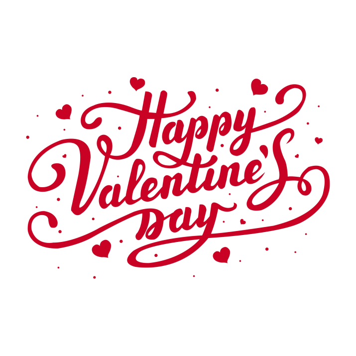 Happy Valentine day PNG.
