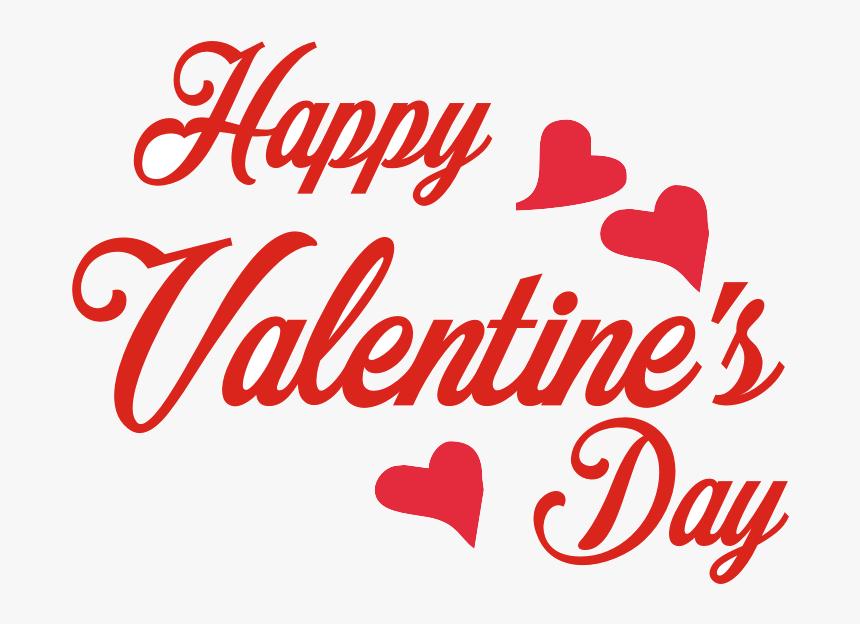 Happy Valentines Day Decorative Texts Clipart Transparent.