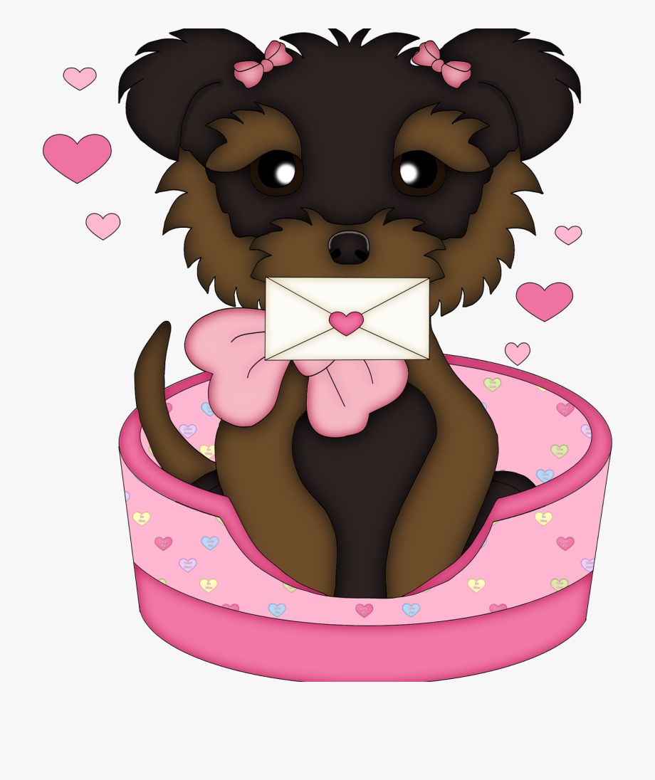 Cute Valentine´s Dogs Clipart.