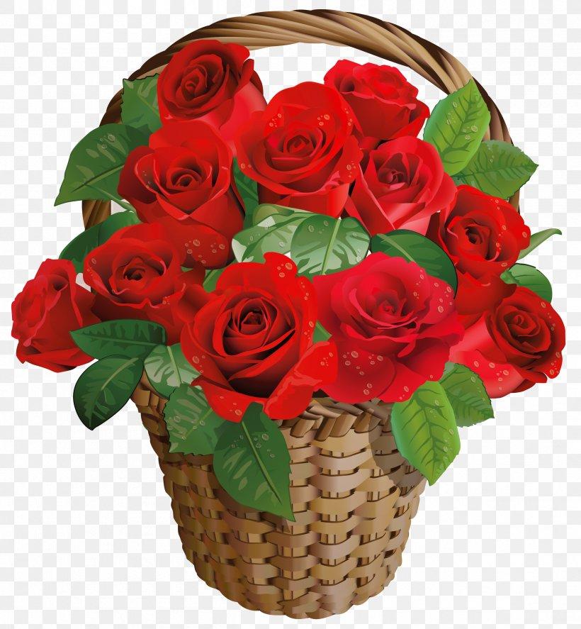 Rose Flower Basket Valentines Day Clip Art, PNG, 2507x2714px.