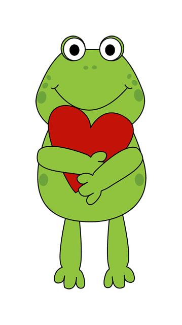 Valentine Frog Clipart.