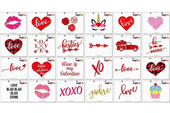 Valentines Day Svg Clipart Printable.