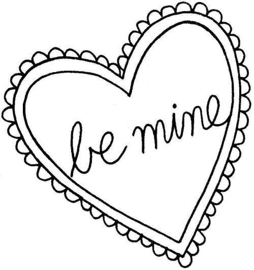 valentine heart clipart black and white