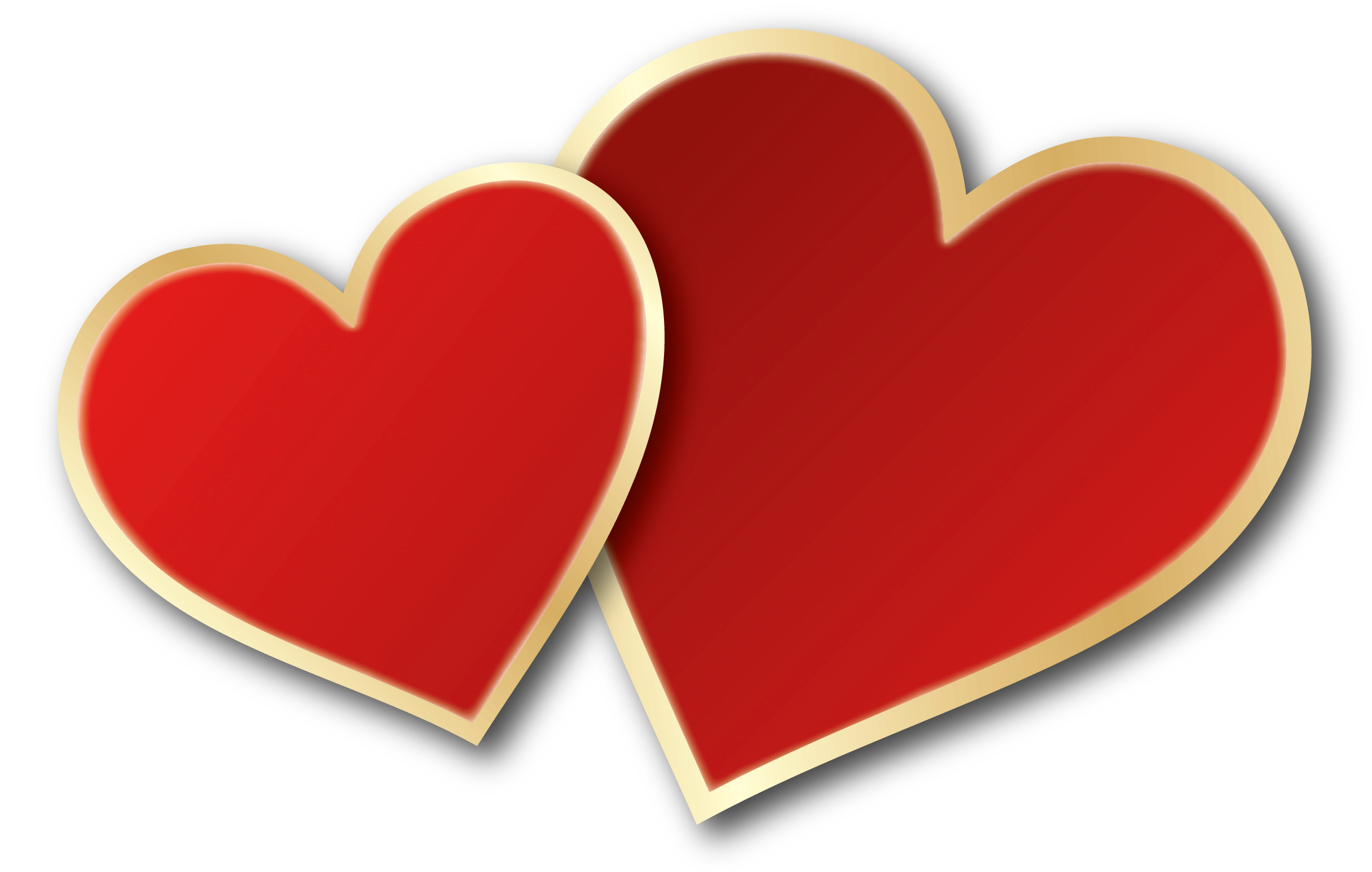 Valentines Day Hearts PNG Clipart Picture.