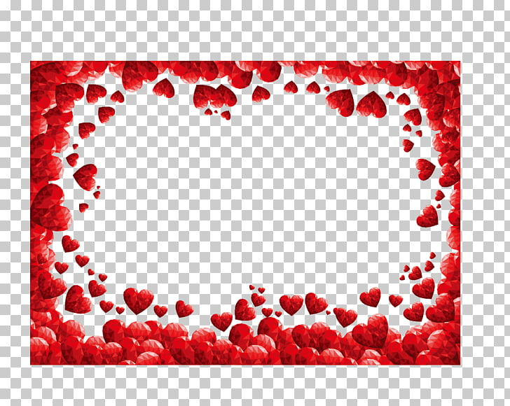 Valentines Day Heart , Red hearts border, red heart.