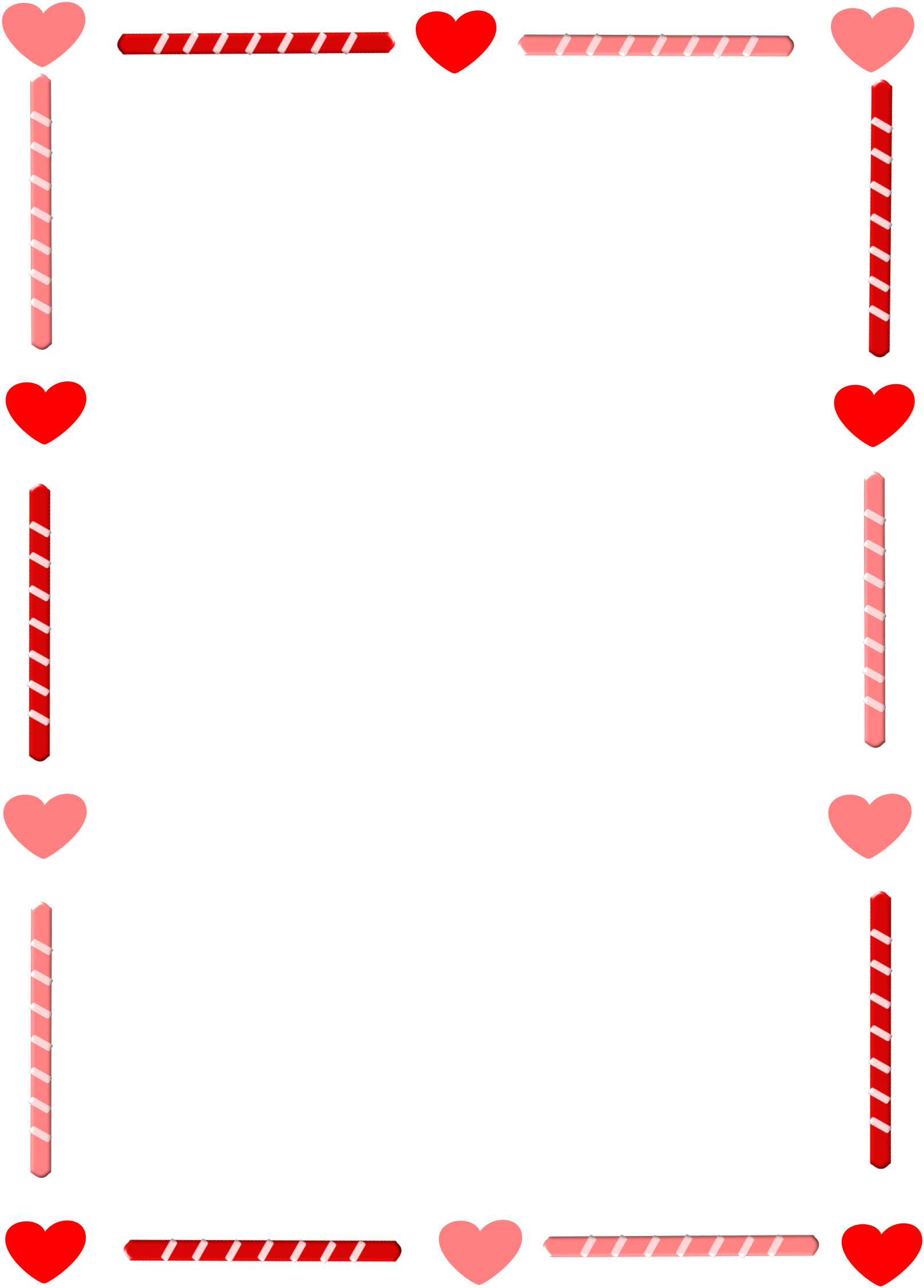 Heart Border Clipart Heart And Candy Border.