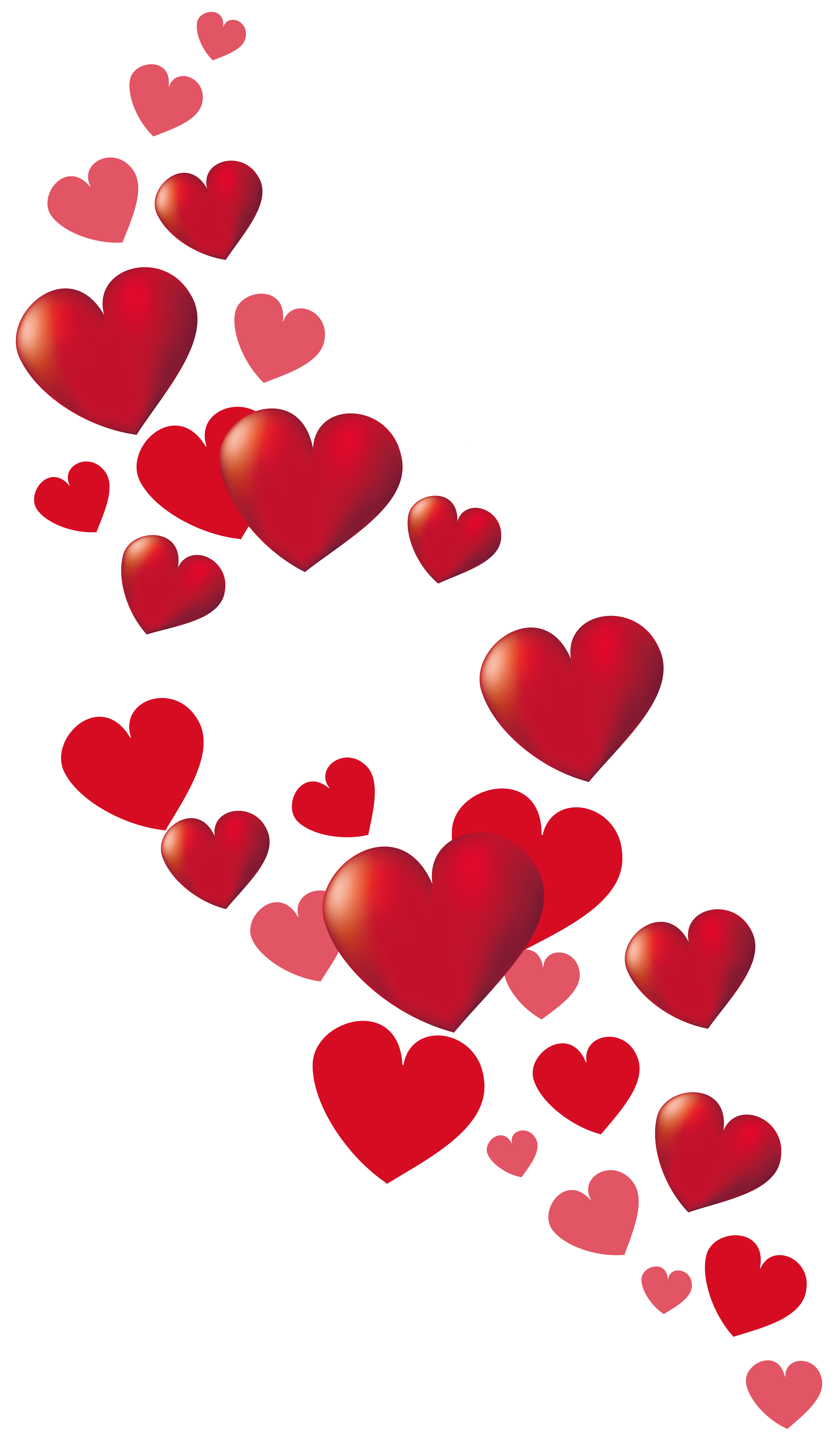 Valentine Hearts Decor PNG Clipart Picture.