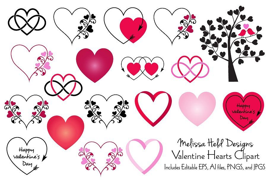 Valentine Hearts Clipart.