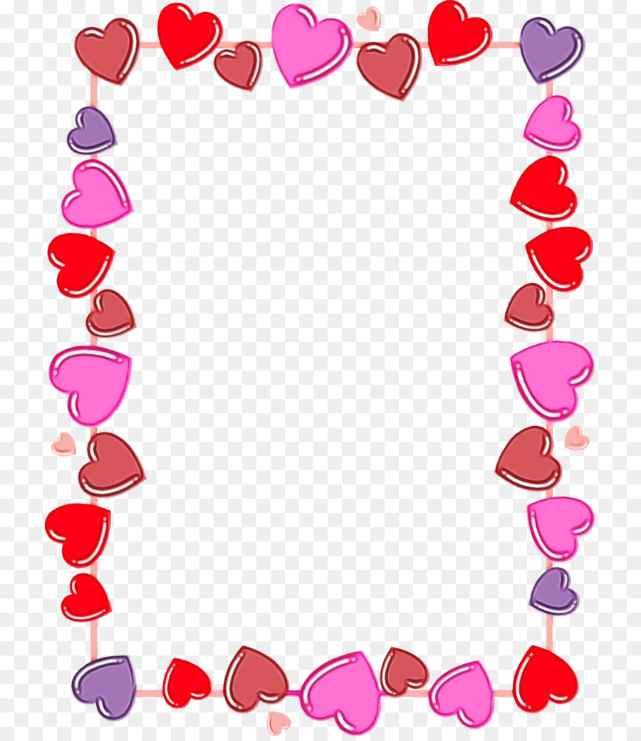Valentines Day Border png download.