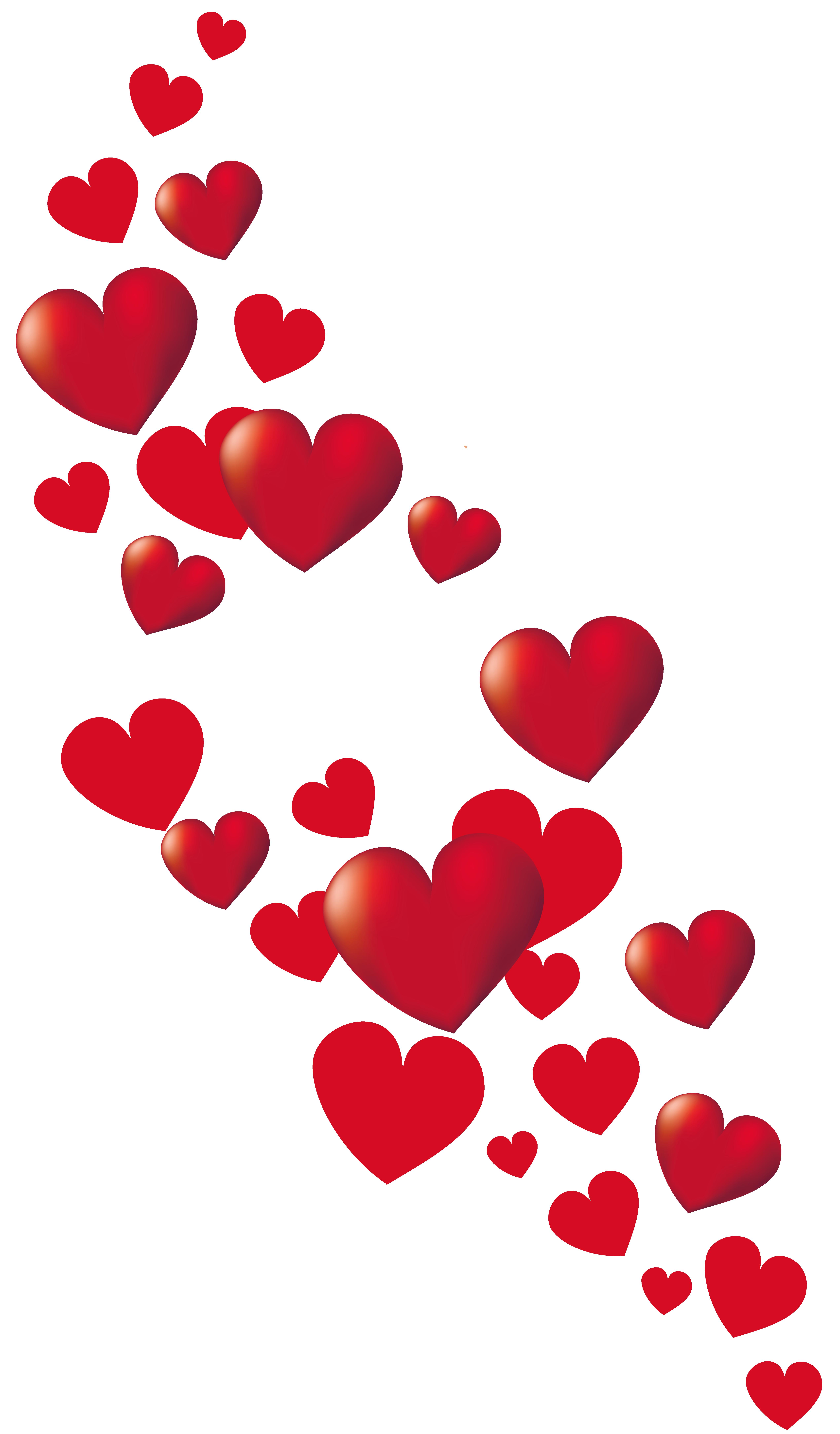 Valentine Hearts Decor PNG Clipart Picture.