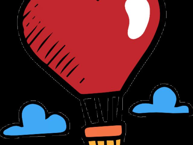 Heart Hot Air Balloon Clipart.