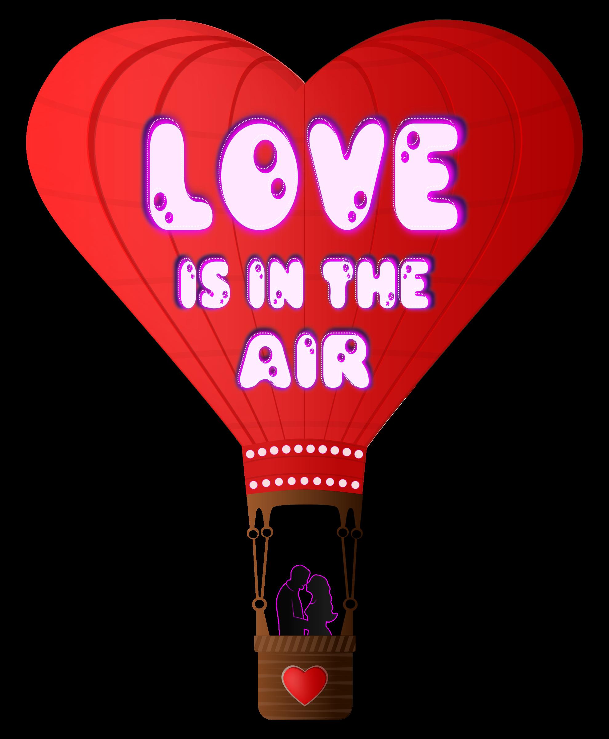 Valentine clipart hot air balloon, Valentine hot air balloon.