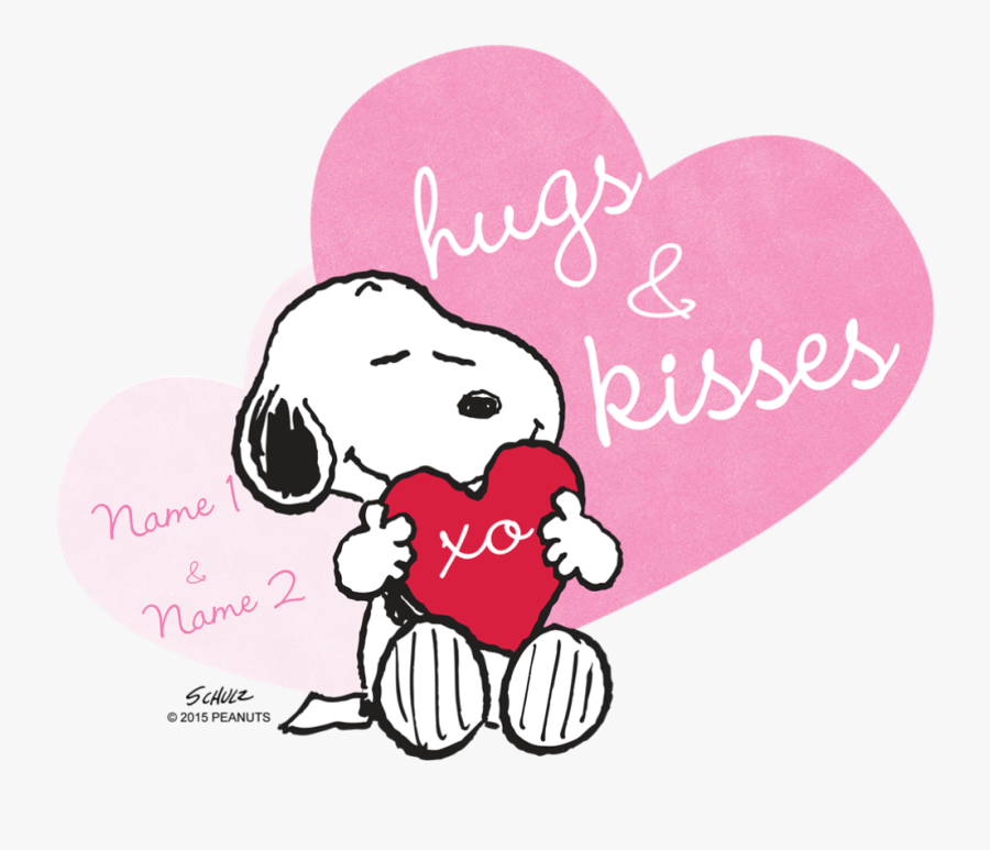 Snoopy Hugs And Kisses , Free Transparent Clipart.