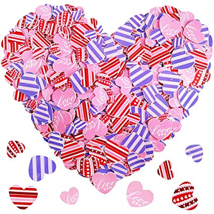 Amazon.com: 600 Pcs 3 Sizes 4 Styles Assorted Heart Stickers.