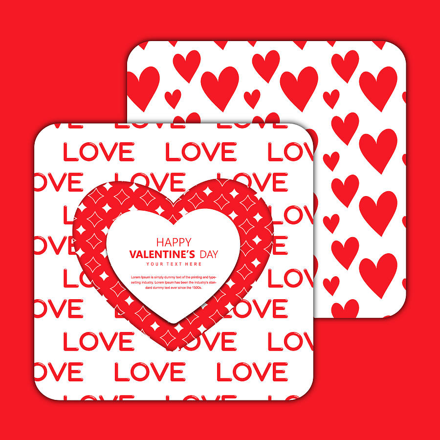 Vector Valentine\'s Invitation Design Cards by We design your imagination..!!.