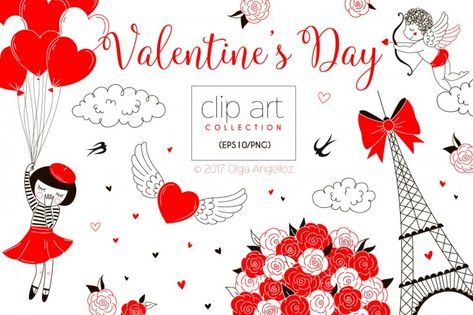 Introducing the Valentine\'s Day clip art collection! Perfect.