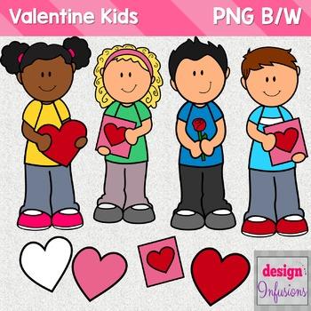 Valentine Kids Clipart.