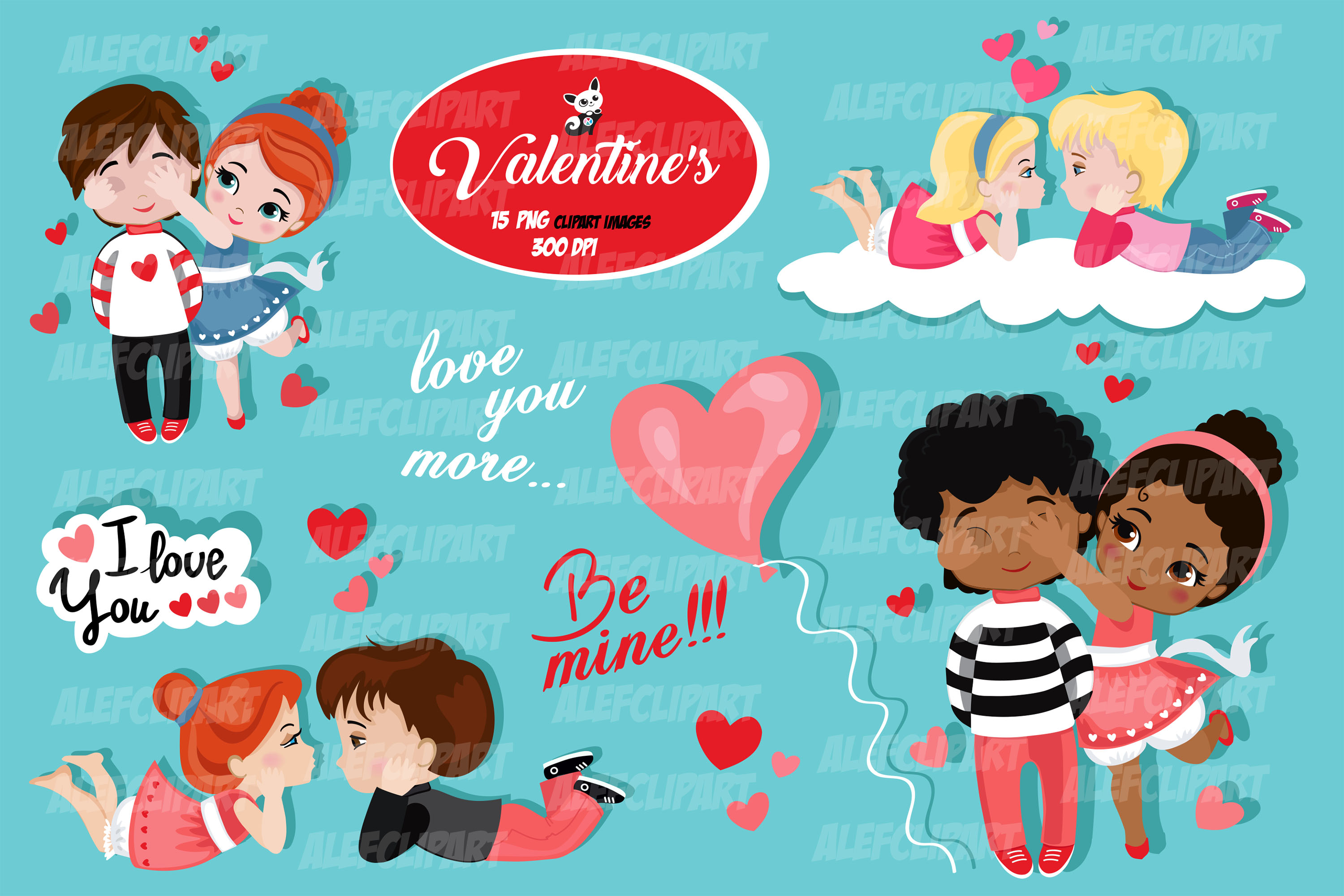 Valentine kids clipart 2, My Cute Valentine..