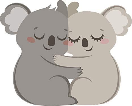 Amazon.com: Adorable Cute Gray Koala Valentine Couple.