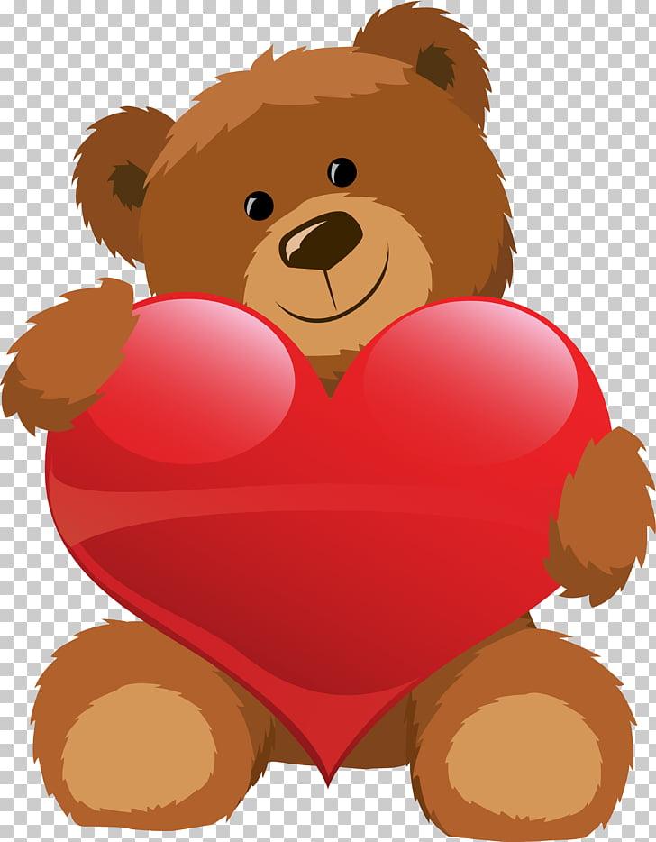 Teddy bear Valentine\'s Day Heart , koala PNG clipart.