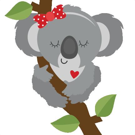 1556 Koala free clipart.