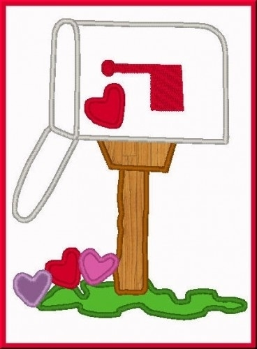 Valentine Mailbox Clipart.