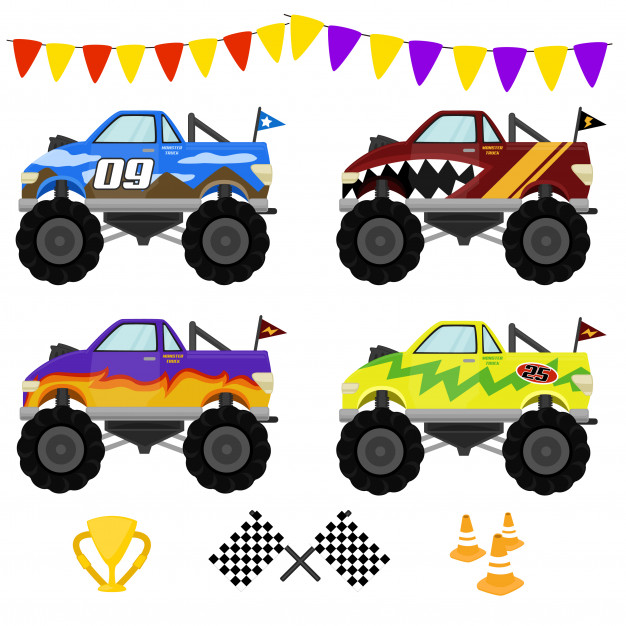 Super monster truck Vector.