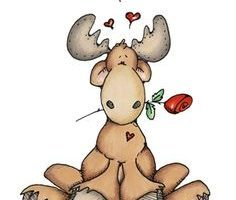 Valentine moose clipart 1 » Clipart Portal.