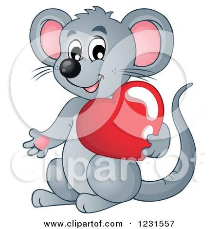 Valentine Mouse Clipart.