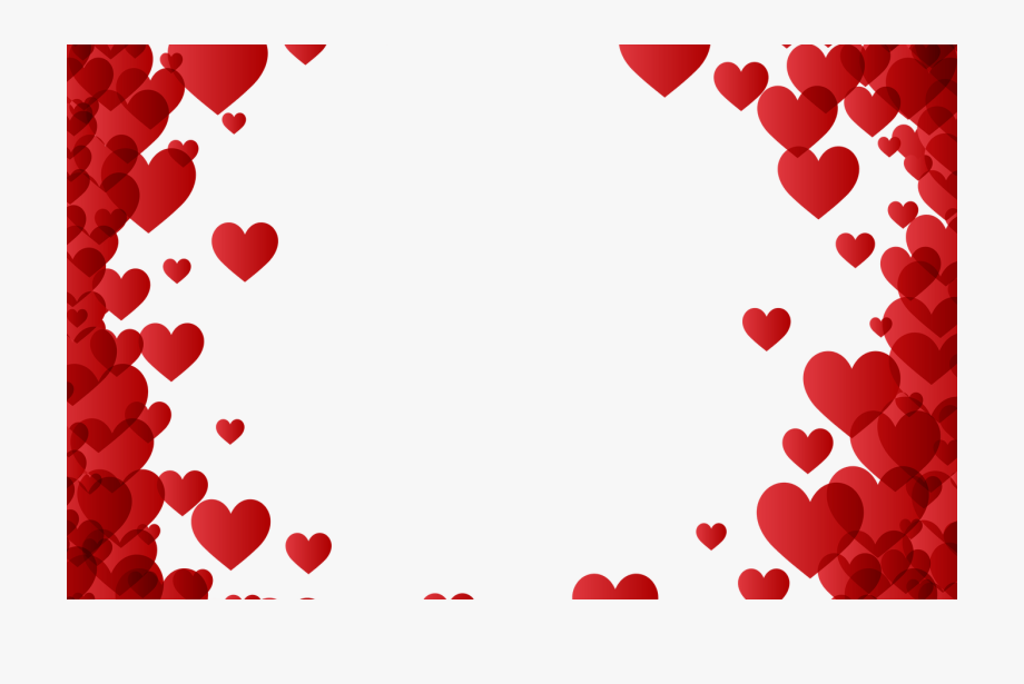 Valentine\'s Day Heart Border Frame Transparent Image.