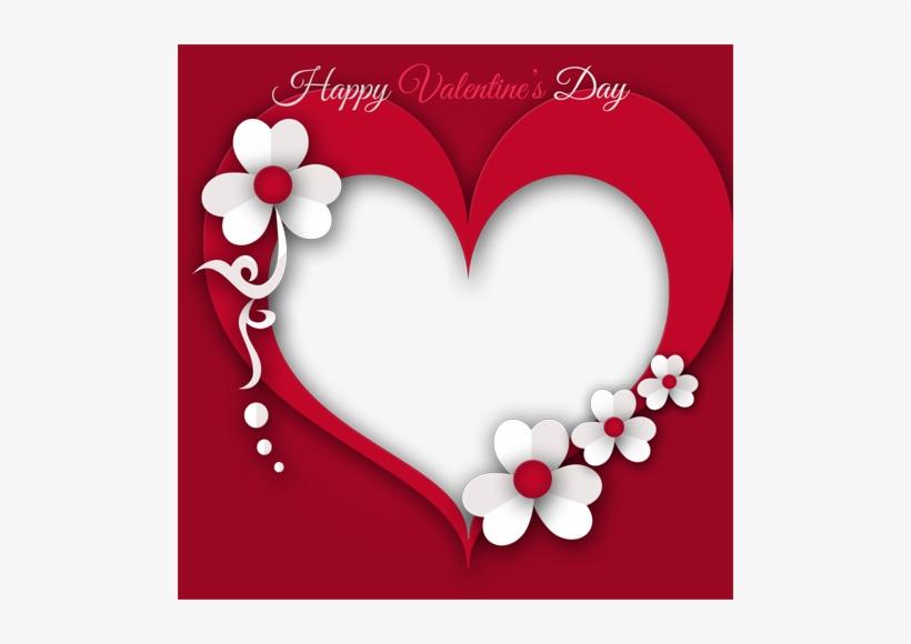 Valentines Day Heart Frame Png Transparent Image.