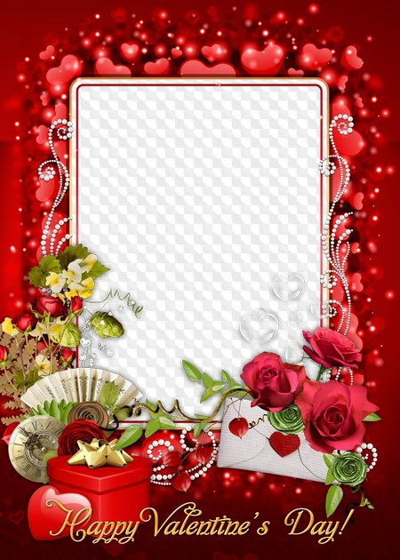 Happy Valentines Day! Photo frame ( PSD.