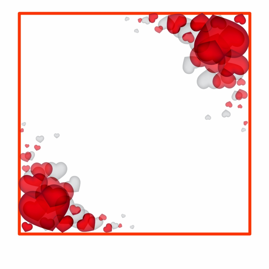 Valentine Border Png With Download S Day Heart Love.