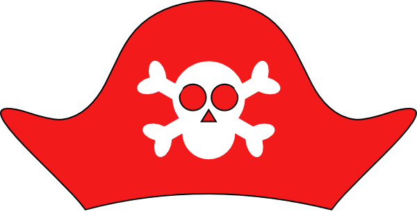 135 Pirate Hat free clipart.