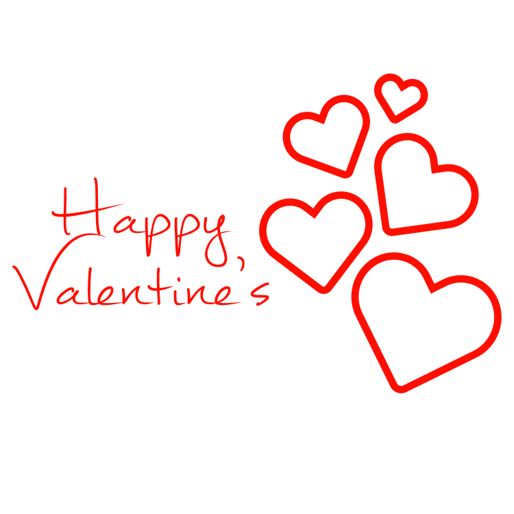 Happy Valentine\'s Hearts Falling transparent PNG.