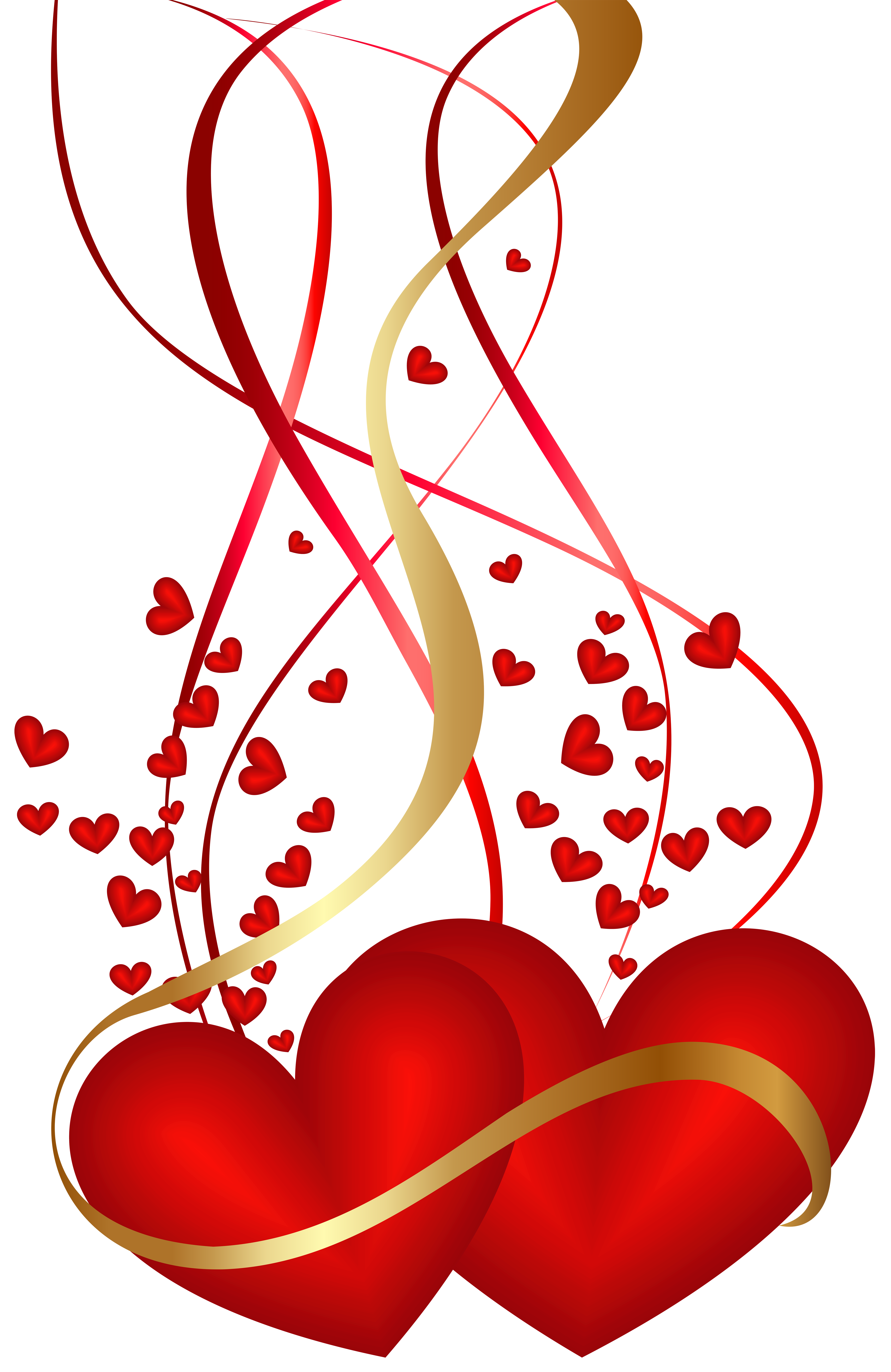 Valentine\'s Day Hearts Decoration PNG Clip Art Image.