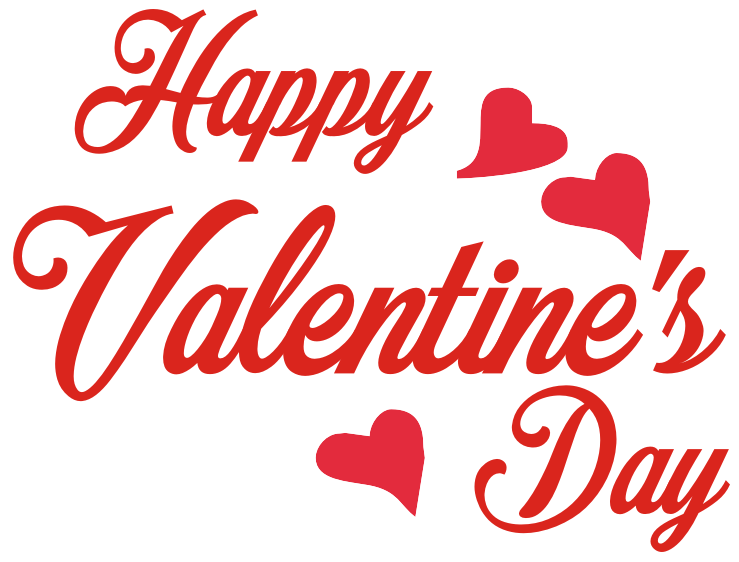 Happy Valentines Day PNG image free download.