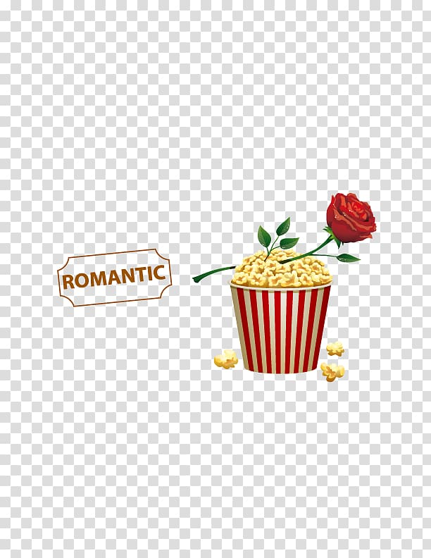 Popcorn Film Cinema, Romantic Valentine\\\'s day transparent.