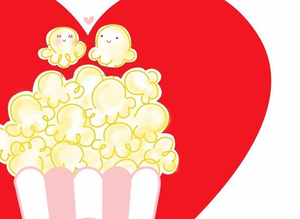 Free popcorn valentine printable. #Valentine #free.