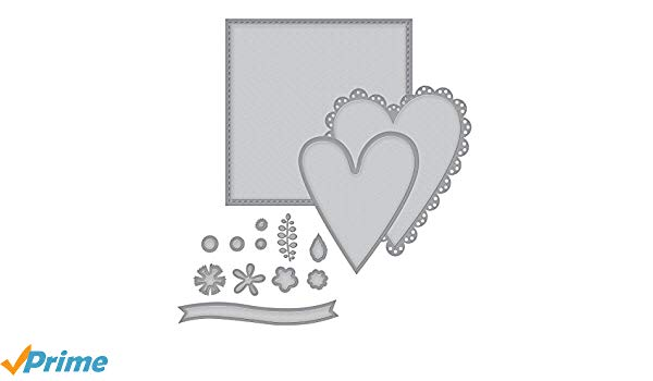 Spellbinders Shapeabilities Sew Sweet Valentine by Tammy Tutterow  Etched/Wafer Thin Dies.