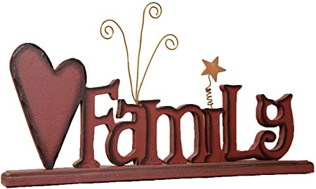 Amazon.com: Your Heart\'s Delight Family Wooden Word Sign.