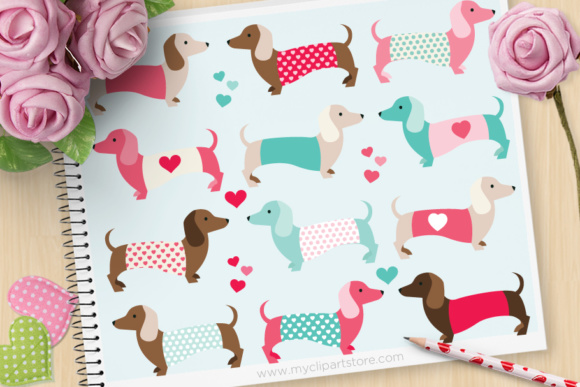 Valentine Puppy Love Clipart.