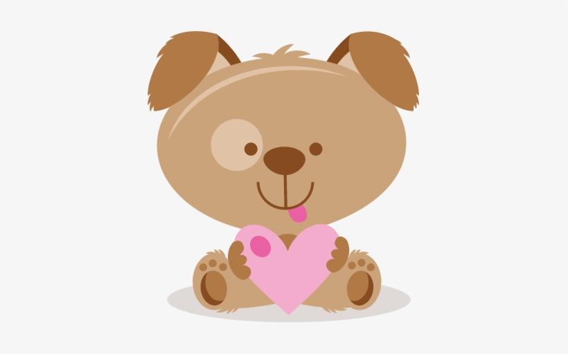 Valentine Puppy Svg Scrapbook Cut File Cute Clipart.