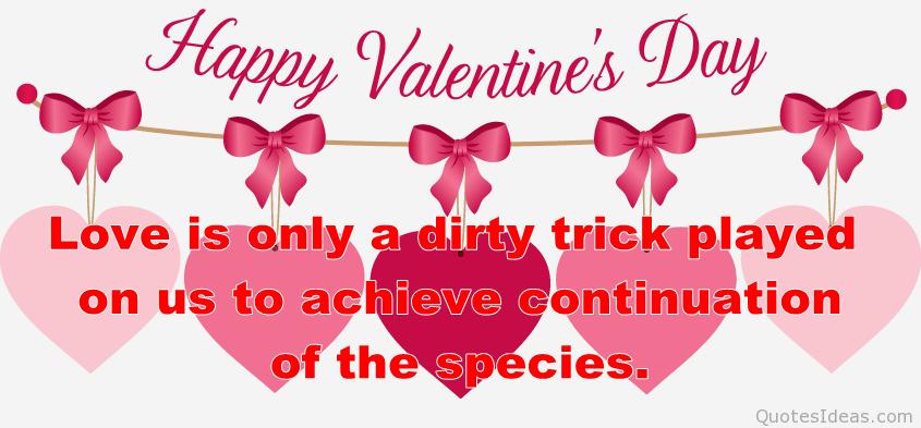 Happy Valentine\'s day clipart quote.