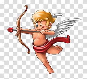 Cherub illustration, Cupid and Psyche Valentines Day , Cupid.