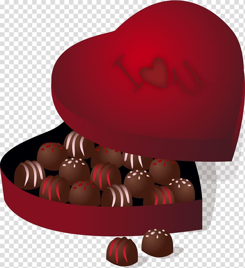 Chocolate truffle Praline Chocolate bar Valentine\\\'s Day.