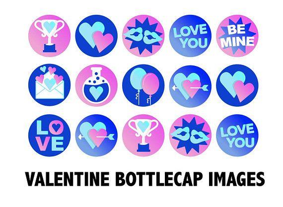 VALENTINE BOTTLECAP IMAGES.