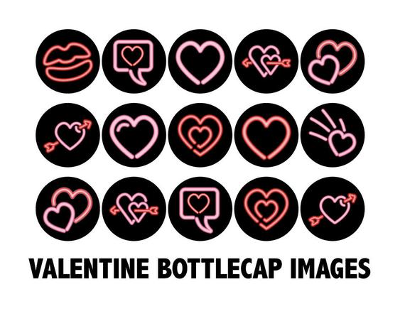 VALENTINE Cupcake Toppers.
